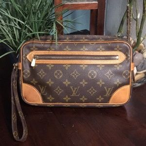 Authentic Louis Vuitton Marley Dragonne clutch